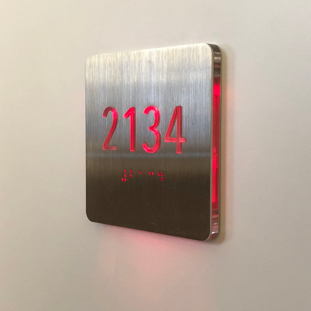 NMR-4X4 Unit Number Signage