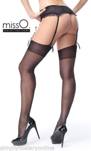 Miss O Silky 15 Denier Stockings Selection of Black Visone White 2 Sizes S301