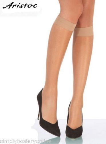 Aristoc Ultra Shine 10 Denier Knee Highs silk finish 3 pair pack
