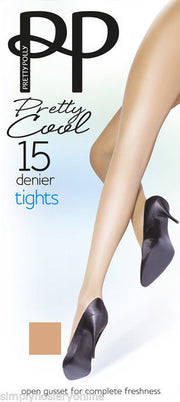 Pretty Cool Open Gusset Crotchless Tights 15 Denier