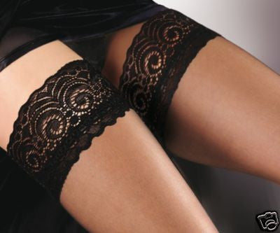 Fiore Edith 8 Denier Sheer Lace Top Hold-ups