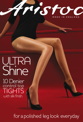 Aristoc Ultra Shine Control Top Tights 10 Denier