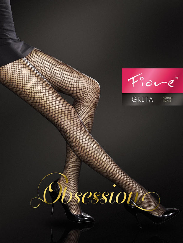 Fiore Greta Golden Line Fishnet Tights