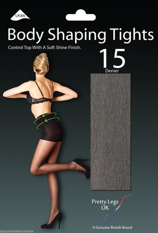 Pretty Legs 15 Denier Body Shaping Tights with Soft Shine Leg