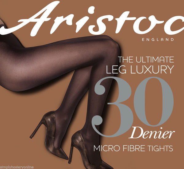 Aristoc 30 Denier Microfibre Semi - Opaque Sheer to waist Tights
