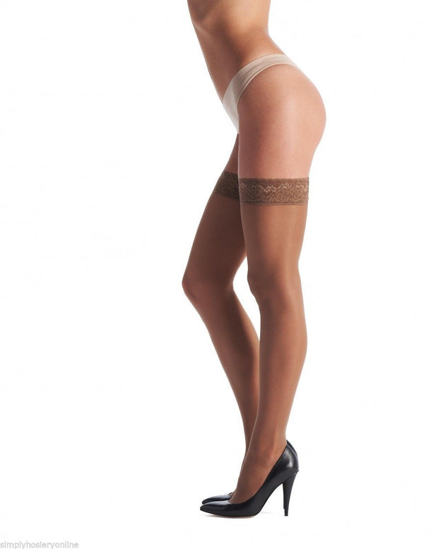 Oroblu Chic Up 30 Denier Semi Opaque Hold Ups Lace Top
