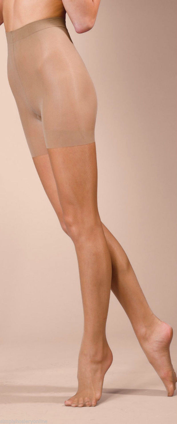 Silky Naturals Body Shaping Bum Tum Thigh Control Top Tights 10 Denier