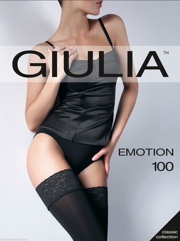 Giulia Emotion 100 Denier Opaque Luxury Lace Top Hold Ups