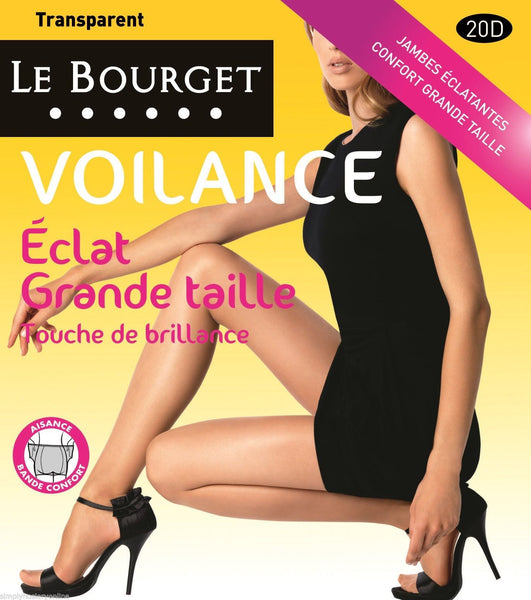 Le Bourget Voilance Touche De Brillance 20 Denier High Sheen Plus Size Tights