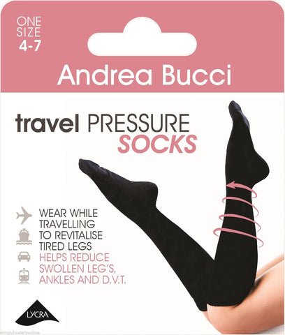 Andrea Bucci Travel Socks Knee Highs Medium Compression 60 Denier Flight DVT