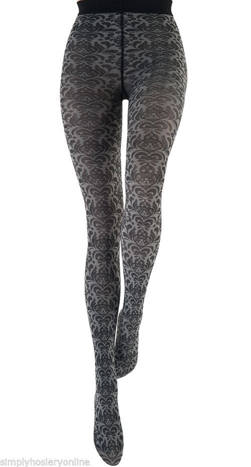 Le Bourget Couture Collant Volute 50 Denier Scrolling type Patterned Tights