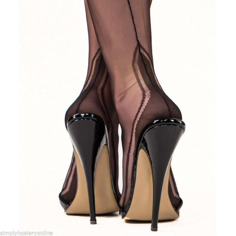 Gio manhattan heel seamed stockings 100 non stretch nylon for Fish nets near me