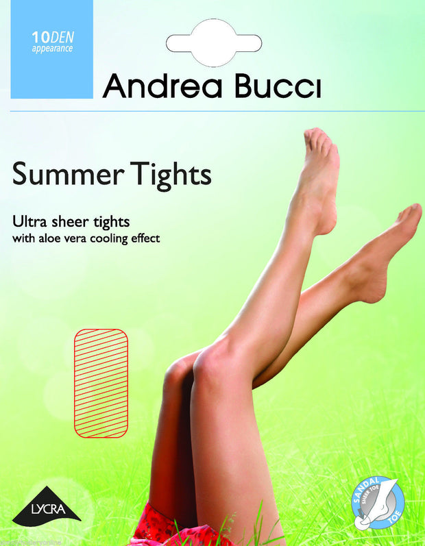 Andrea Bucci Summer Ultra Sheer Tights 10 Denier with Cooling Aloe Vera