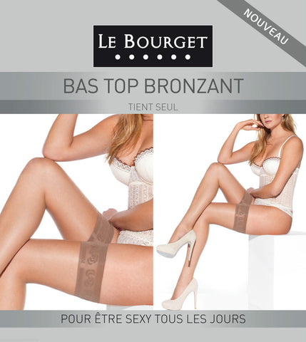 952f6735055 Le Bourget Bas Top Bronzant 15 Denier Hold Ups