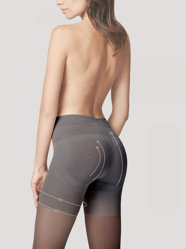 Fiore Body Care Press Up Tights 20 Denier Gentle Bum Lift +Silver Fresh
