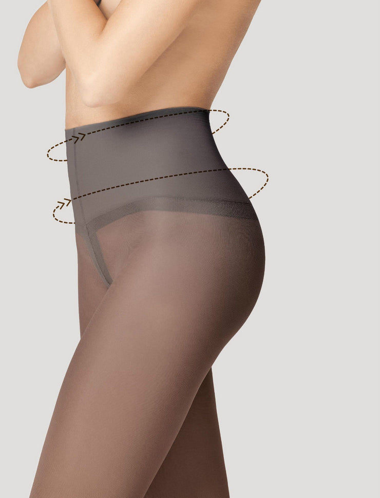 Fiore Body Care Fit Control Top Shaping Tights + Silver Fresh Anti Bac 40 Denier