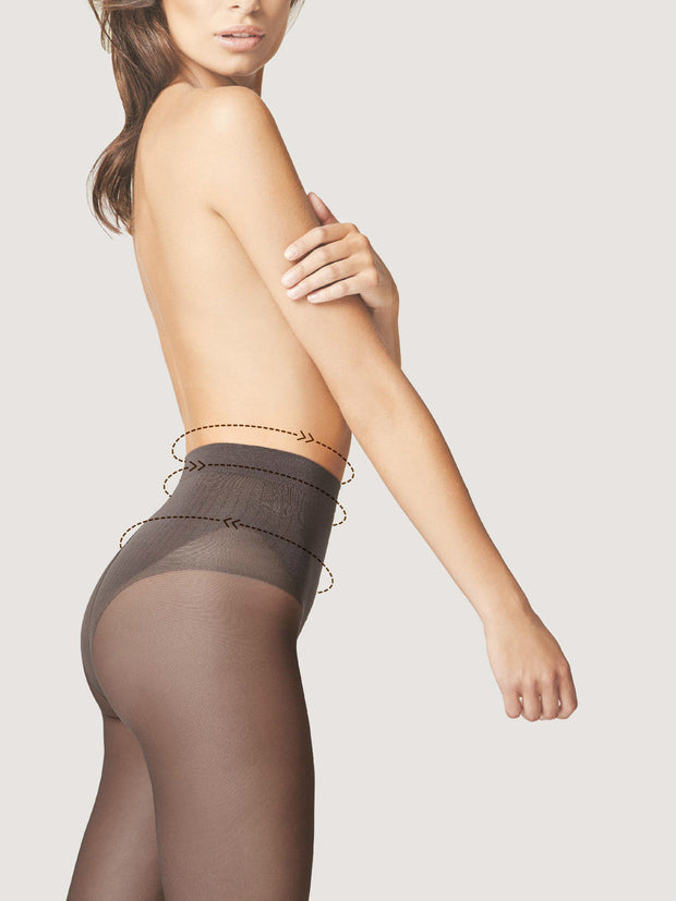Fiore Bikini Fit 40 Denier Control Top Tights + Silver Fresh Anti Bacterial