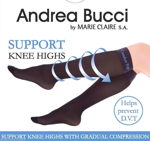 Andrea Bucci Support Knee Highs with Gradual Compression 30 Denier DVT Socks
