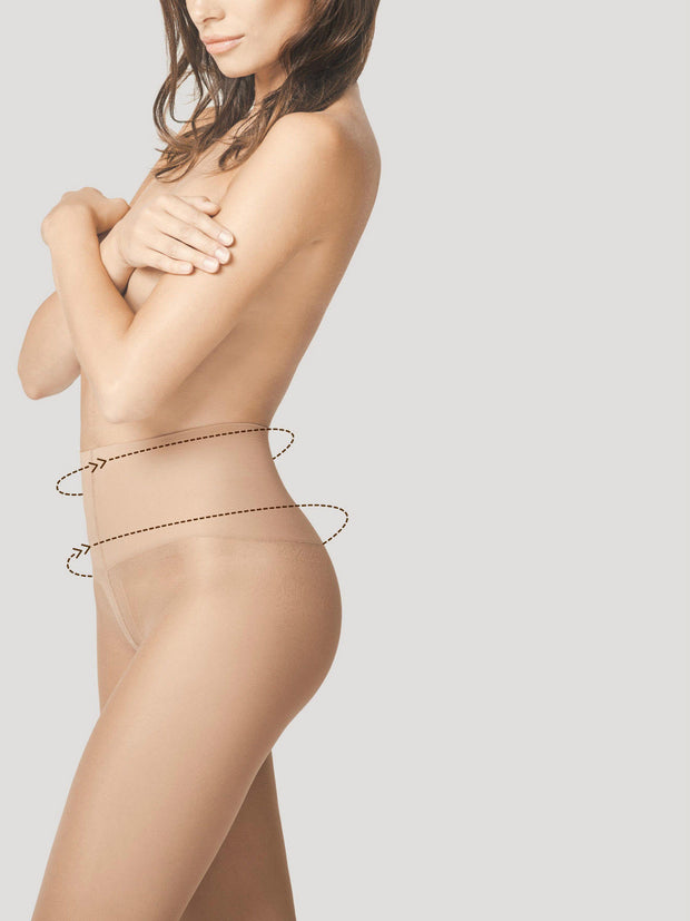 Fiore Body Care Fit Control Top Shaping Tights + Silver Fresh Anti Bac 20 Denier