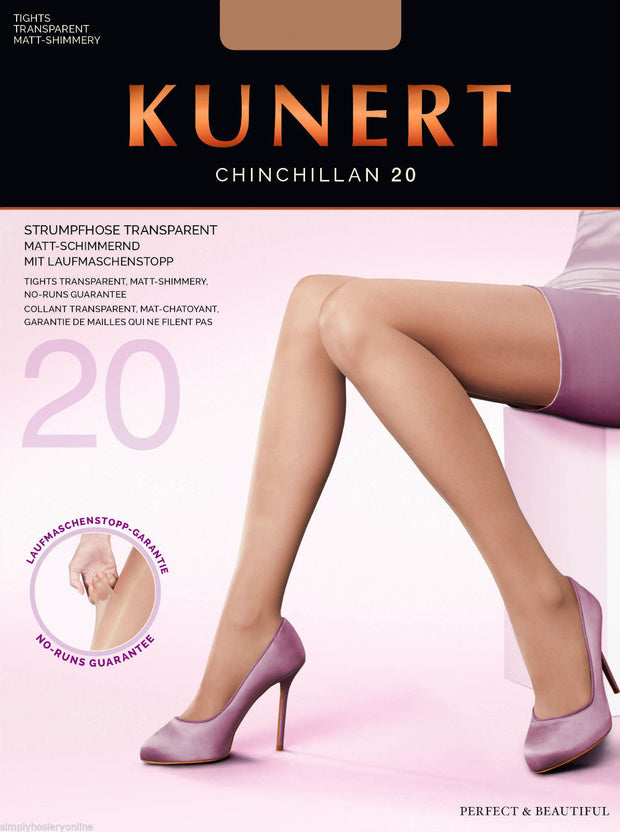 Kunert Chinchillan No Run Tights 20 Denier Sheer Slight Shimmer Tights Run Stop