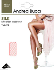 Andrea Bucci Silk Satin Sheen Tights 10 Denier