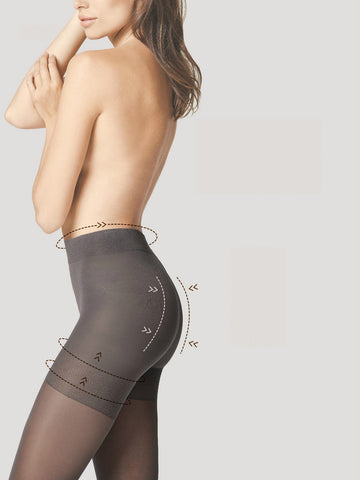 Fiore Total-Slim Tights 40 Denier Tum-Bum-Thigh Shaping Body Care + Silver Fresh