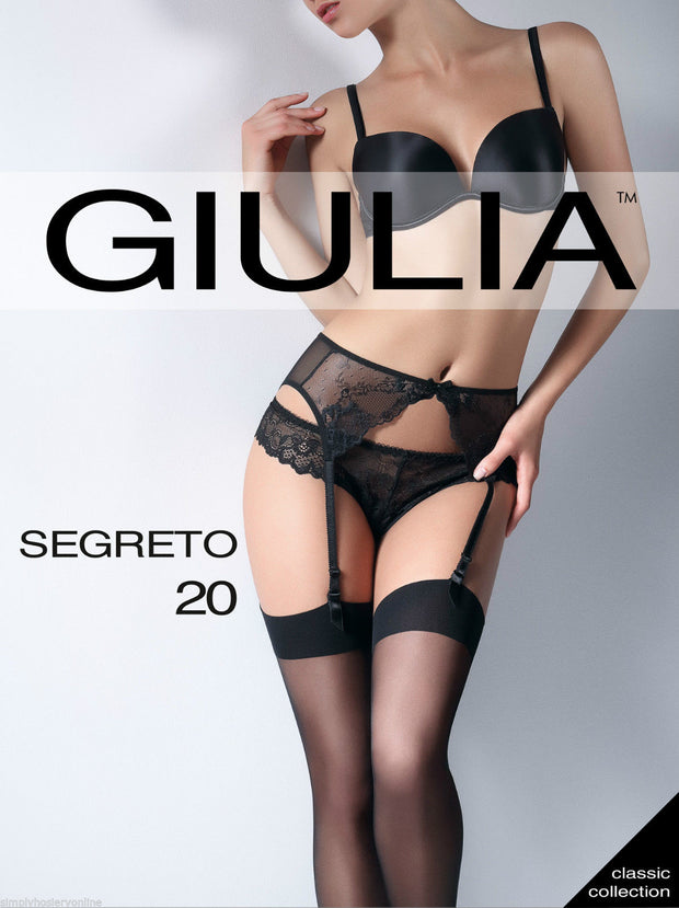 Giulia Segreto 20 Denier Sheer Stockings Plain Soft Welt Tops
