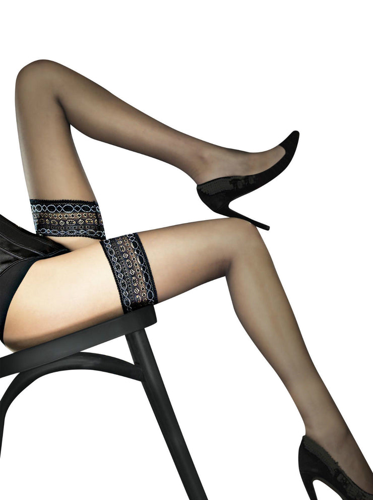 Fiore Volta Lace Top Sheer Hold Ups