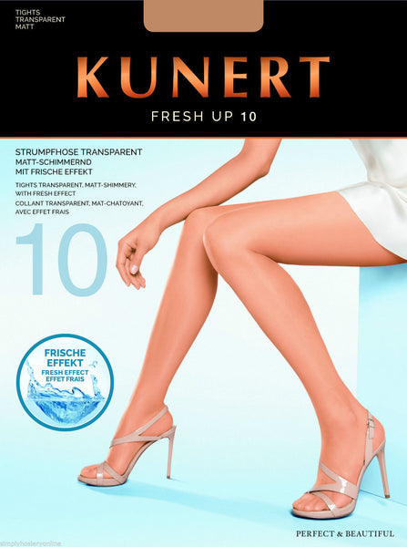 Kunert Fresh Up 10 Denier Sheer Slight Shimmer Odour Neutralising Cooling Tights