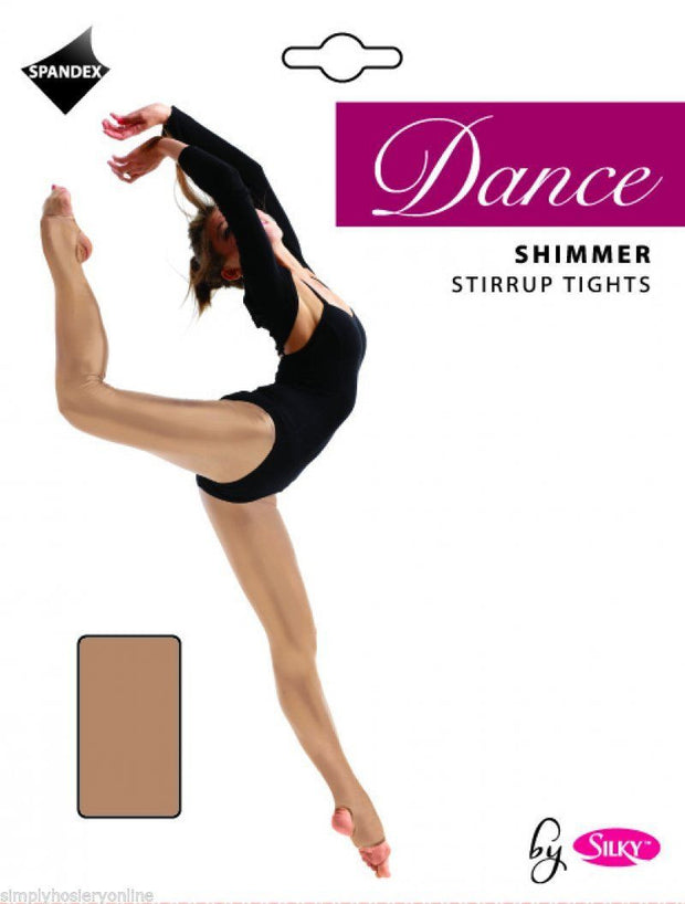 Silky Dance Shimmer Stirrup Tights for Children