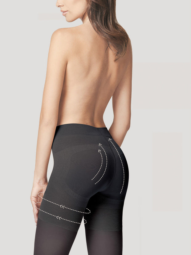 Fiore Body Care Press Up Tights 40 Denier Gentle Bum Lift +Silver Fresh
