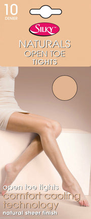 Silky Naturals Open Toe Toeless Tights 10 Denier