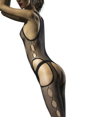 Fiore Obsession Secreto Fishnet Bodystocking Open Suspender Style Bodystocking