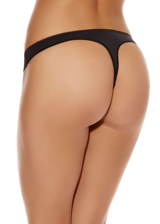 Deco Thong Knickers Underwear In Black