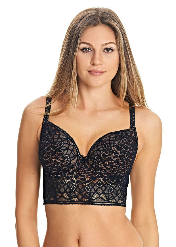 Soiree Lace Underwire Bralette Bra in Black