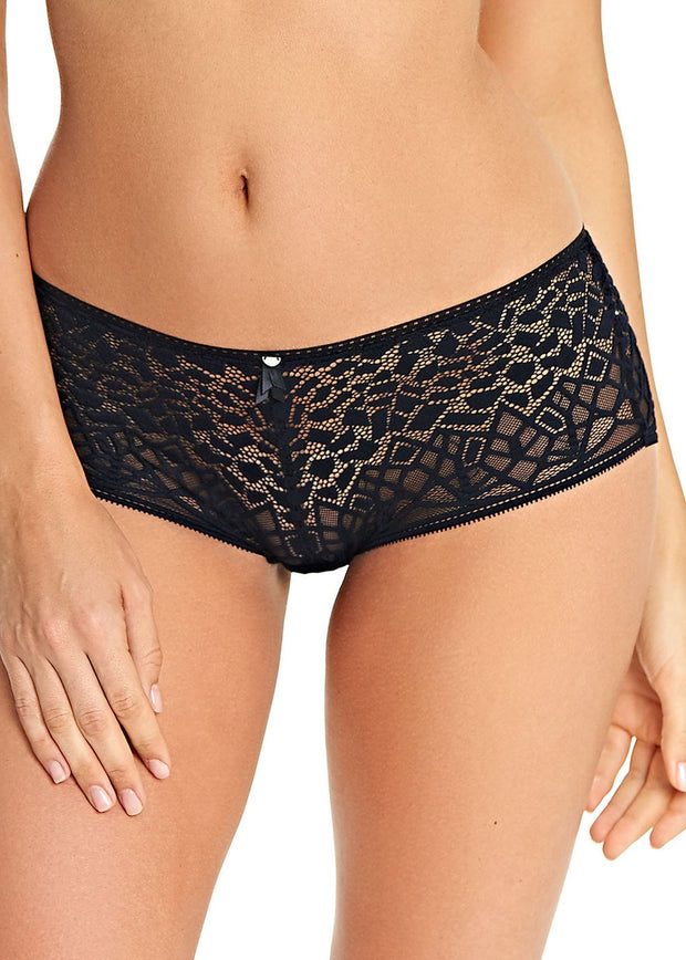 Soiree Lace Short Knickers In Black