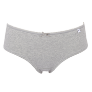 Alice Cotton Bikini, Cheeky Shorts or Thong 3 Pair Pack Black, Grey and White