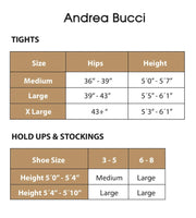Andrea Bucci 30 Denier Semi - Opaque Slight Sheen Tights 3 Color Choice