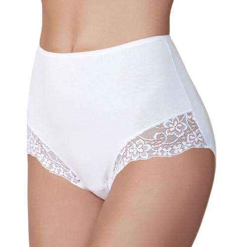Janira Braga Essentials high Lace Knickers 2 Pair Pack in Black, White or Nude