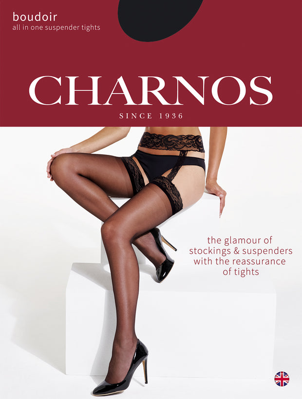 Charnos Boudoir 15 Denier Suspender Tights