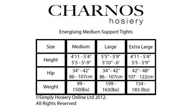 Charnos Energising Medium Support Tights 15 Denier Graduated Compression 4-8mmHg