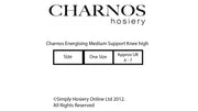 Charnos Energising 15 Denier Medium Support Knee Highs with Massage Sole 5-8mmHg