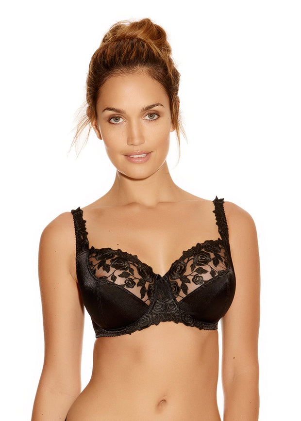 BELLE Underwired Balcony Bra in Black