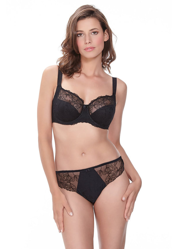 Estelle Underwired side Support Bra in Black