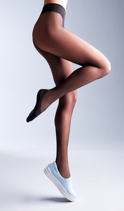Footies Style 20 Denier Sheer Tights with a Cotton sock