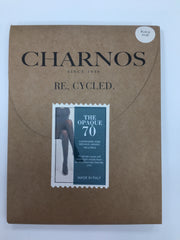 Charnos Recycled Opaque Matt Tights 70 Denier Black