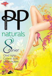 Pretty Polly Naturals 8 Denier Oiled Tights