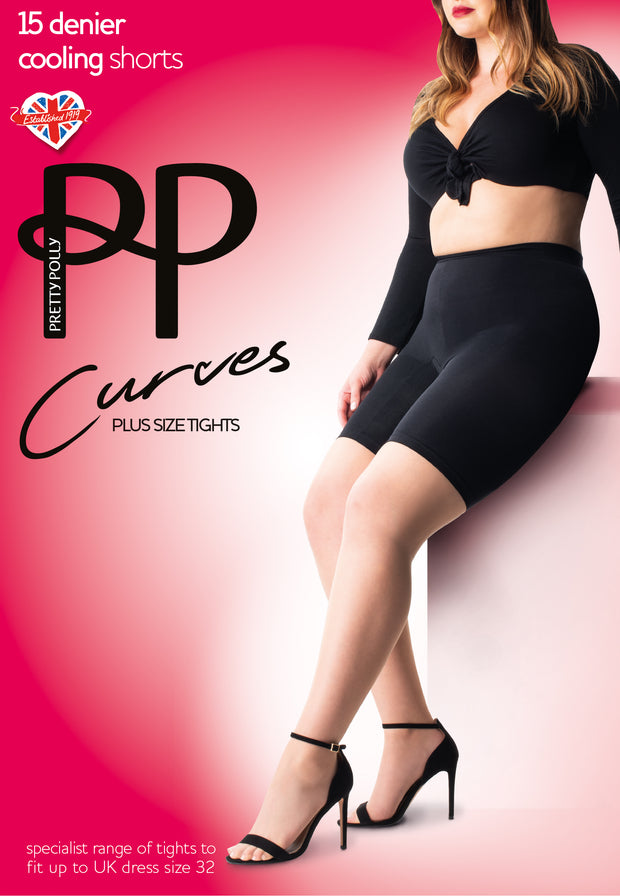 Curves Cooling Shorts Long Line knickers Plus Sizes