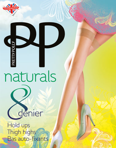 Pretty Polly Naturals 8 Denier Hold Ups SandalToe