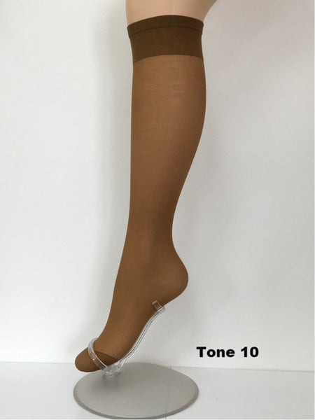 Pendeza Knee High Socks 15 Denier - 2 Pair Pack